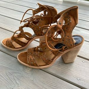 Dolce Vita Luci Leather Heeled Sandal